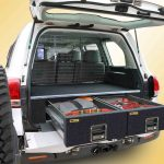 200 Landcruiser with EcoLite twin drawers and half cargo barrier.