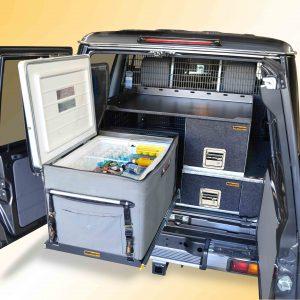 rv-fs-2 slide with engel 60 litre fridge