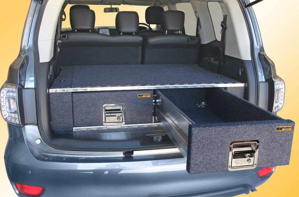 nissan y62 patrol alloy twin drawers open