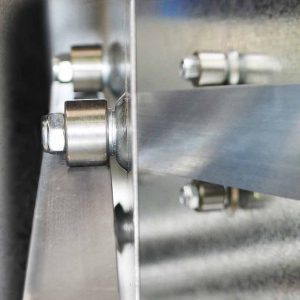 twin row bearings and stainless steel runners detail image