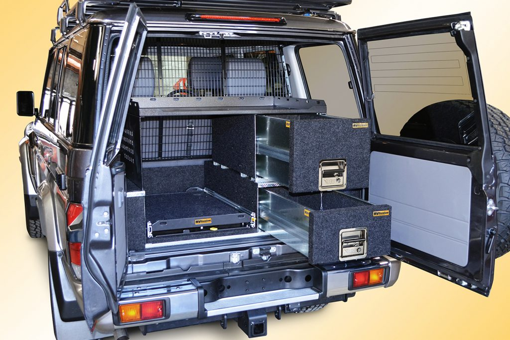 cargo shelf 2 fitted to 76 series landcruiser