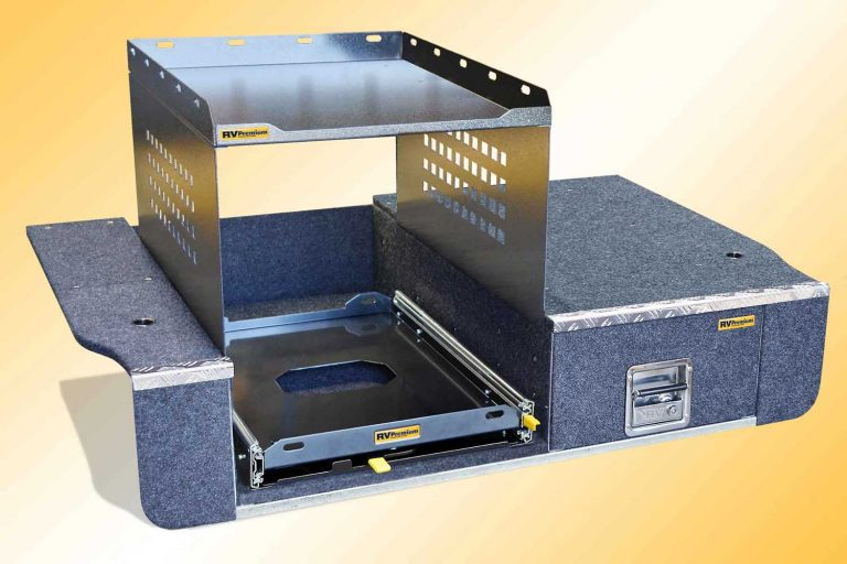 cargo shelf fitted to EAC-1L drawer system