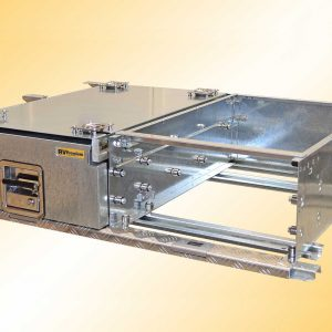 rv premium drawer frame, drawer and inbuilt fridge slide