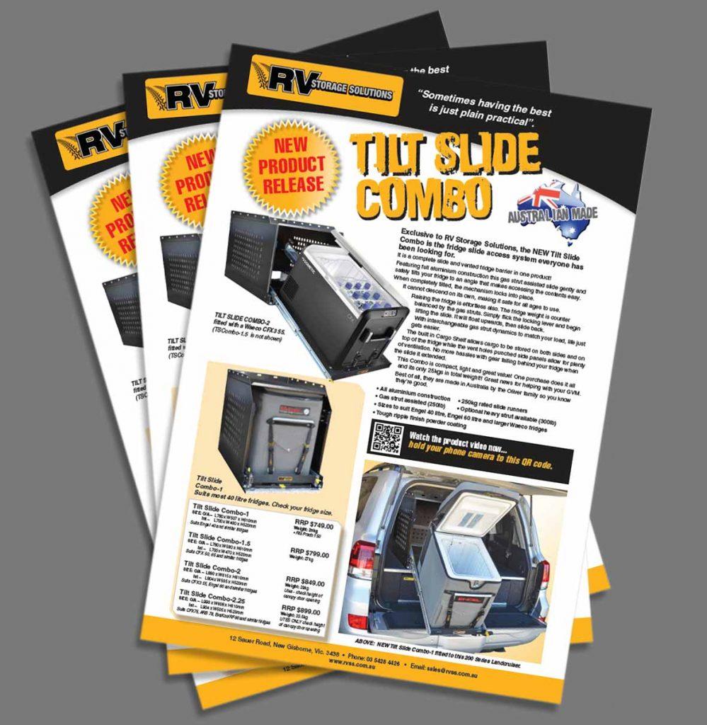 tilt slide combo brochure A4 4 sizes